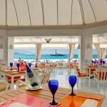 Beachfront restaurant photography